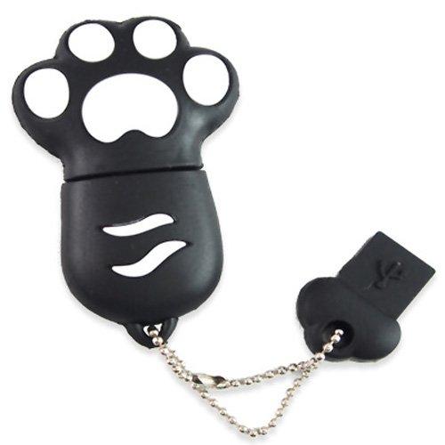 818-Shop No9800030004 Hi-Speed 2.0 USB-Sticks 4GB Pfote Kralle Tatze 3D schwarz