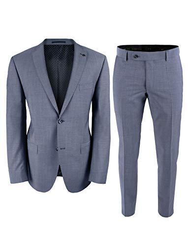 Roy Robson Herren Anzug Regular Fit 2-teilig aus Schurwolle Super'100 Business (5023) (Hellblau, 58)
