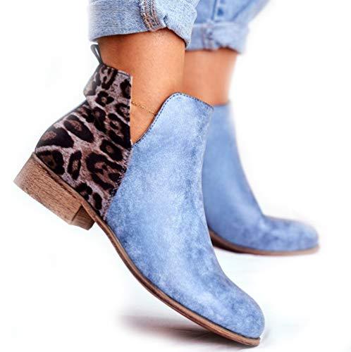 Wedges Zapatos Planos Calzado Mujer Zapatos Punta Moda Altas Zapatillas Playa al Aire Libre Punta Romanas Cerradas Bombas Tobillo blue-38