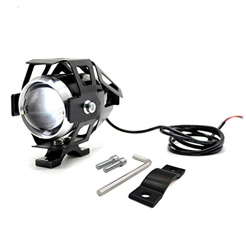 XQK Faros universales para Motocicleta, Luces LED de conducción puntuales para Motocicleta, Luces antiniebla de Motocicleta U5 de 12 V para Quad, Coche, camión, Barco, Bicicleta