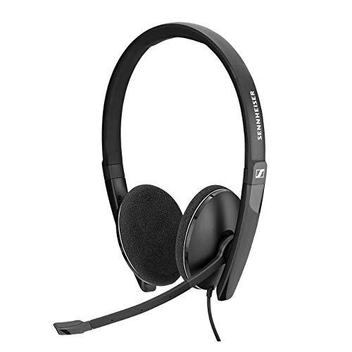 Sennheiser PC 8.2 CHAT, auriculares con cable para casual gaming, e-learning y música, micrófono con cancelación de ruido, control de llamadas, micrófono plegable, alta comodidad: conectividad USB-A