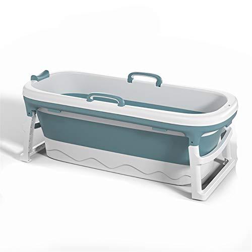 1.38 / 115cm Bañera portátil con Cubierta Cubo de baño Plegable Cubo Plegable para Adultos Adultos para Adultos Piscina Baño SPA Sauna ES/EE. UU. (Color : Blue L)