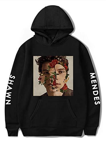 Silver Basic Junge Mode Shawn Mendes 98 Hoodies Unisex Sweatshirts Pullover für Fan Support SchwarzFoto A, M