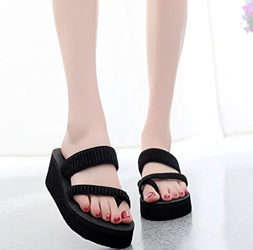 Sandalias Puntiagudas de Mujer,Pista de Caminar con Hombre de Aspecto Grueso, Zapatillas de Arena, Ropa de tacón Alto de Ropa de Moda-Collar_36,Sandalias de natación