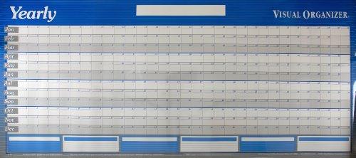 AT-A-GLANCE Visual Organizer Horizontal Erasable Wall Planner, Jumbo Wall, Blue, 2012 (A177)