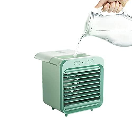 YUEWEIWEI Ventilador pequeño, Mini ventilador de refrigeración por agua, Humedad dual Humidificación de refrigerador de refrigeración refrigerante, estudiante USB Dormitorio portátil Enfriador de aire