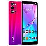 3G Telefonos Moviles, 5.0 Pulgadas Android Smartphone Telefono Movil Libres ,1GB RAM+4GB ROM Quad Core, Dual SIM Dual Standby, 2500mAh Batería Telefono Celular (Reno4-Rojo)