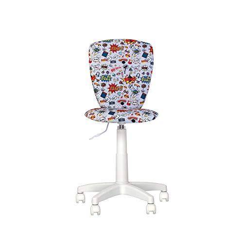 Silla Expert Polly-Silla de escritorio infantil con volante de 360 grados de altura regulable, respaldo ajustable, asiento ajustable en profundidad (CM2/gris)