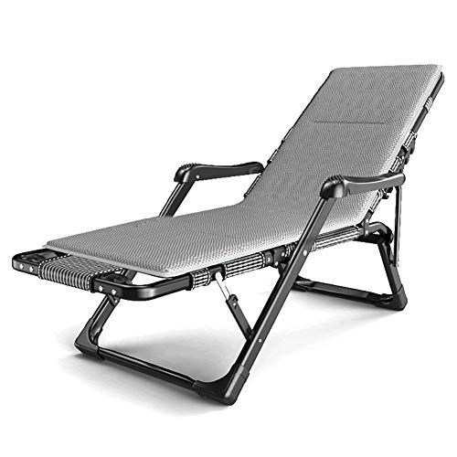 Dekstoel Eenpersoons opklapbed met matras, Tuin gewatteerde ligstoel Massage Lounge stoel Zero Gravity Oversized Home Opvouwbare Lounge stoel Zonnebank