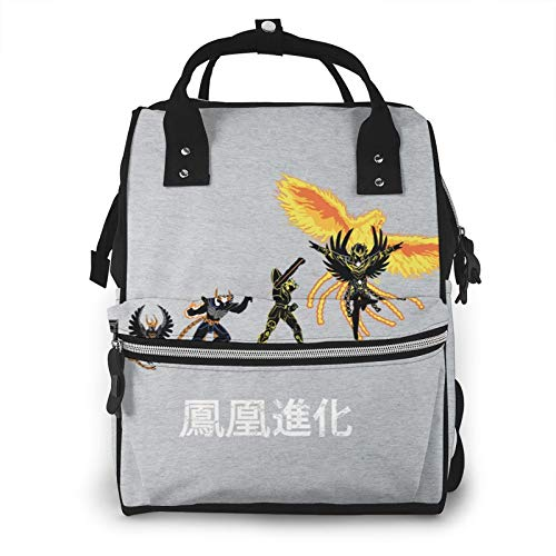 Ikki Phoenix Evolution Saint Seiya Knights of The Zodiac Diaper Bag Mommy Backpack Multifunctional Large Capacity Diaper Bag Baby Travel Care Bag