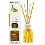 Ambientair Home Perfumes. Ambientador Mikado Aroma Flor de Azahar. Difusor de Varillas perfumadas. Difusor 240 ml con palitos de ratán. Ambientador para Hogar sin Alcohol.