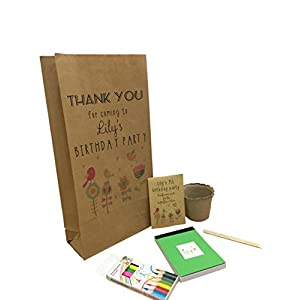 Waystosaythankyou Eco Friendly Birthday Party Bags Personalised No Plastic Bag & Fillers WILDFLOWER