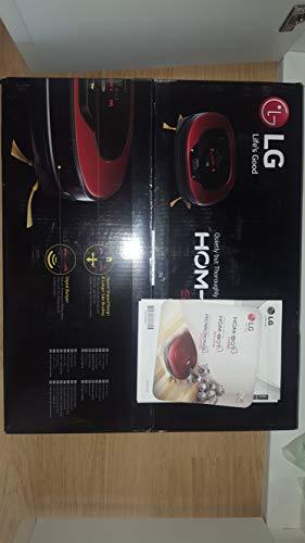 LG Kitchen VR8601RR.ARDQEEU Robot Aspirapolvere Motore Smart Inverter, 6 Watt, 0.6 litri, Ruby Red
