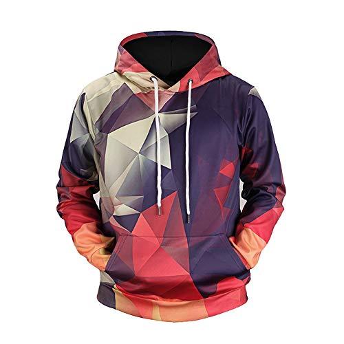 BAGFP Sweatshirt Hoodie Digitale Farbe Geometrischen Rasterdruck Original Paar Flut Marke Kapuze Kordelzug 3D-Pullover S-4Xl