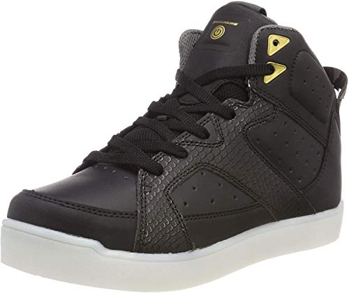 Skechers Unisex-Kinder E-Pro Street Quest Lights 90615 Hohe Sneaker, Schwarz (Black 90615l-Blk), 34 EU