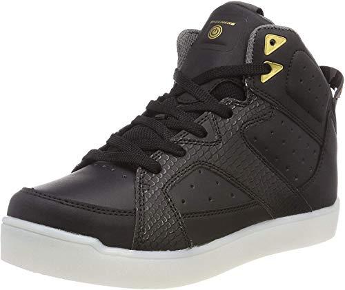 Skechers Unisex-Kinder E-Pro Street Quest Lights 90615 Hohe Sneaker, Schwarz (Black 90615l-Blk), 35 EU