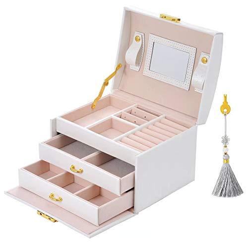 E-MANIS Caja Joyero Caja de Joyas,Estuche Rectangular para