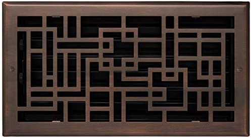 "Brass 4/"" x Signature Hardware 947831-4-10 Baer Steel Wall Register"