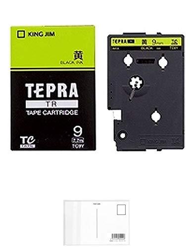 キングジム テープカートリッジ テプラTR 9mm TC9Y 黄 + 画材屋ドットコム ポストカードA