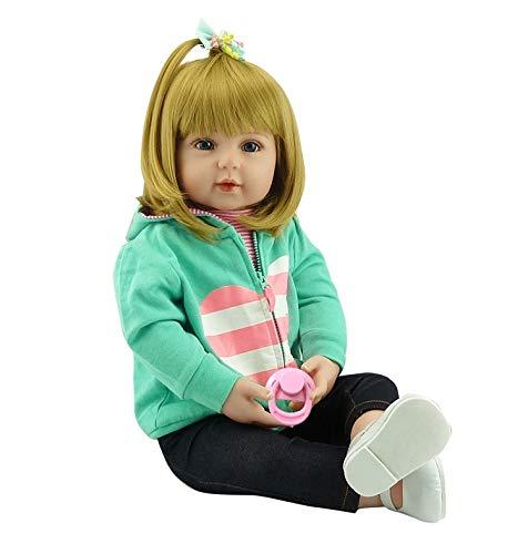 Pinky Reborn Muñecas 18Inch 45cm / 22Inch 55cm Reborn Baby Doll Reallife Vinilo de Silicona Suave Bebe Reborn Girl Dolls Simulación Juguetes para niños pequeños Regalos de cumpleaños (18Inch)
