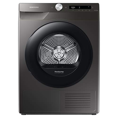 Samsung Series 5+ DV90T5240AN/S1 with OptimalDry™, Freestanding Heat Pump Tumble Dryer, 9 kg, Graphite, A+++ Rated