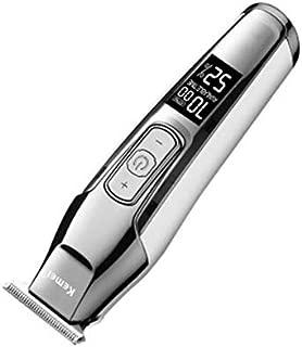 Kemei-5027 Professional Hair Clipper LCD Display Beard Hair Trimmer for Men DIY Cutter Electric Haircut Machine Silver