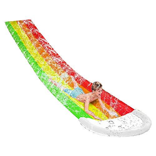 ,f 2021 Nuevo - Tobogán inflable del agua del verano de la piscina del PVC de los niños al aire libre del césped