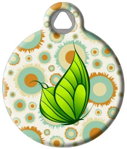 Dog Tag Art Butterfly Effect - Custom Pet ID Tag for Dogs and Cats Large Size