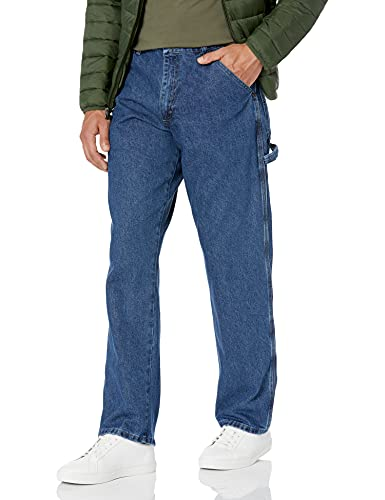 Wrangler Authentics Men's Classic Carpenter Jean, Retro Stone, 38W x 32L