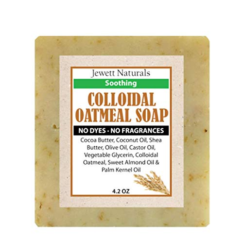 Colloidal Oatmeal Eczema And Psoriasis Soap 4.2 Ounces. Vegan & Handmade With Shea Butter, Cocoa Butter to help Combat Irritated Skin, Sensitive Skin.