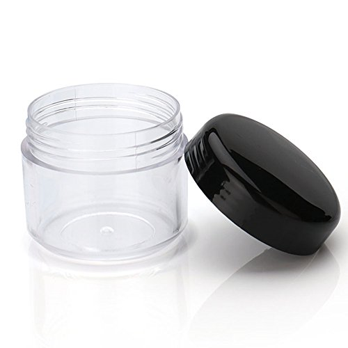 25 pcs 3 gram/3 ml rond Plastique vide Cosmétique Bocal avec bouchons à vis Noir pour échantillon de cadeau de Noël de stockage et de voyage