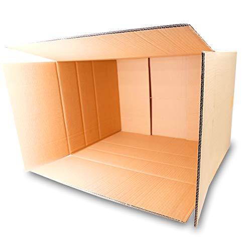 5 Faltkartons 600x400x400mm braun KK 107 2 wellig rechteckige Versandkartons | DHL Paket 5 Kg | DPD XL | GLS XL | H L Paket | Große stabile Versandkartons | Große doppelwandige Kartons