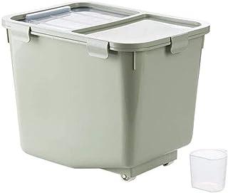 AWAING Bocaux Avec Proof conteneurs de céréales couvercle en plastique Joint humidité Cuisine alimentaire Conteneur de riz...
