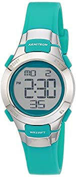 Armitron Sport Women s 45/7012TEL Digital Chronograph Teal Resin Strap Watch