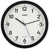 CASIO(カシオ) 掛け時計 電波 ブラック 直径22.4cm アナログ 常時点灯 夜間秒針停止 置き掛け兼用 IQ-860NJ-1JF