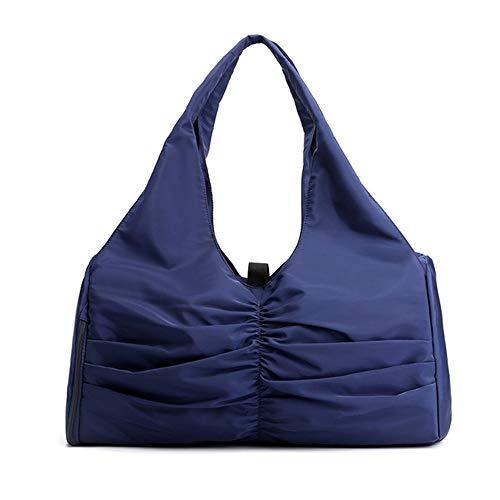 Bolsa de viaje casual bolsa de mano antirrobo bolsas de hombro bolso grande moda para mujeres y hombres, azul (Azul / Patchwork), Large