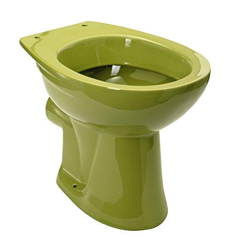 Stand-WC | Tiefspüler | Abgang waagerecht | Oliv