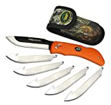 Outdoor Edge RazorBlaze, RB-20, 3.5' Replaceable Blade Folding Hunting Knife, Non-Slip Rubberized TPR Handle,...