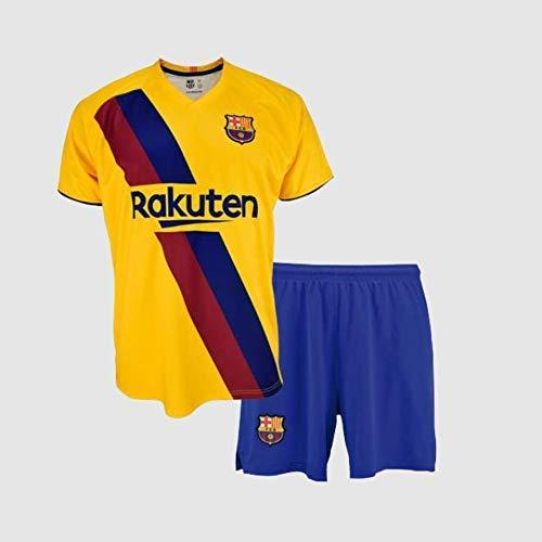 Conjunto Camiseta y pantalón 2ª equipación FC. Barcelona 2019-20 - Replica Oficial con Licencia - Dorsal 21 DE Jong - Niño Talla 8