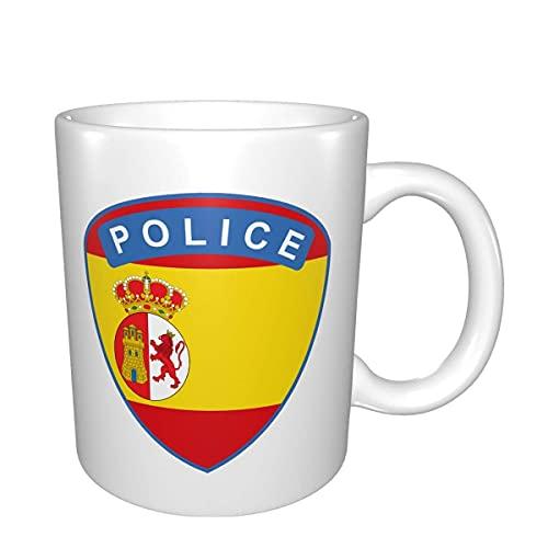 Eastlif Bandera de España Policía del Ministerio del Interior de café Taza de café Apto para el té, Cacao, C
