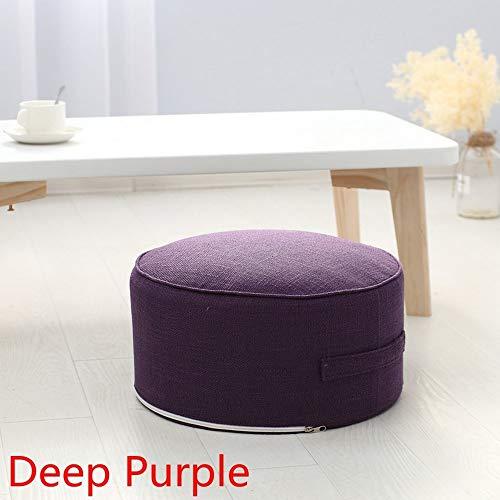 HNXCBH Round High Strength Sponge Seat Cushion Tatami Cushion Meditation Yoga Round Mat Chair Cushions Seat Cushion (Color : Dark Purple)