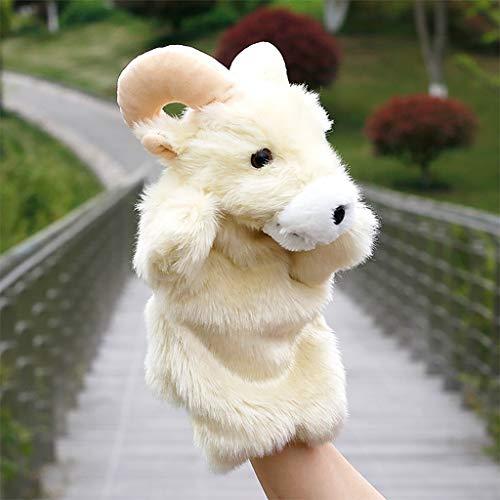 PHOOW Marioneta de Peluche Marioneta de Mano Juguetes de Peluche Animal Antílope Historia Juguete Muñeca Blanda Juguetes Instrucción de la Primera Infancia Dedo Muñeca for niños Niños