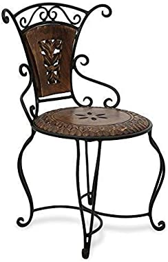 Delight Item Shop Home Decor Wooden & Wrought Iron Living Room Chair/Dining Chair