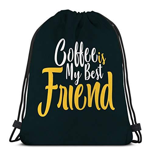 Classic Drawstring Bag Sport Storage Bag coffee my best friend