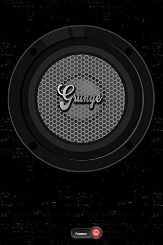 Grunge Planner: Boom Box Speaker Grunge Music Calendar 2020 - 6 x 9 inch 120 pages gift
