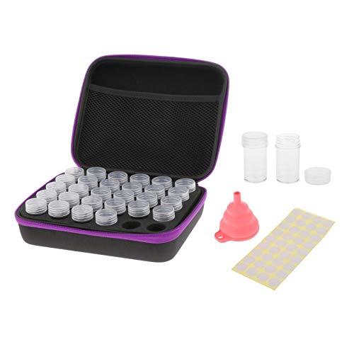 MERIGLARE 30/60 Ranuras Caja de Pintura de Diamantes Accesorios de Almacenamiento Caja Kits de Herramientas de Bordado - 30 Slots, Individual