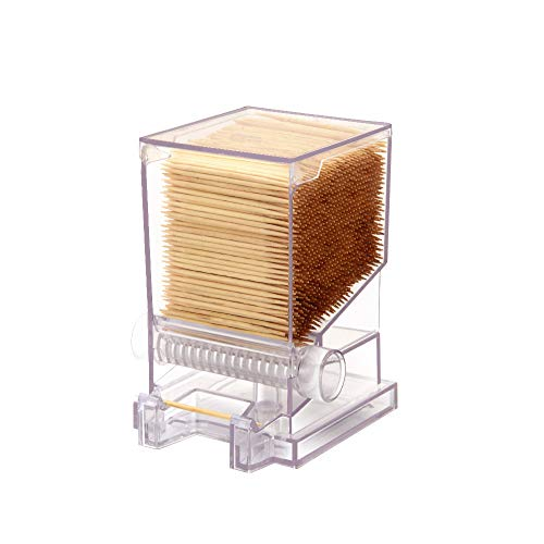Serve Clean Toothpick Dispenser Clear RestaurantStyle Includes 100 Toothpicks