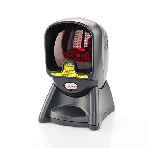 Scanner de code à barres, lecteur omnidirectionnel automatique Sh-2028 de scanner de code à barres de laser pour le supermarché de système de position,Noir