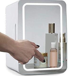 Elf Cat Mini Makeup Fridge, 8L Portable Cosmetic Refrigerator, Glass Panel And Led Lighting, Cooler/Warmer Freezer, Used f...