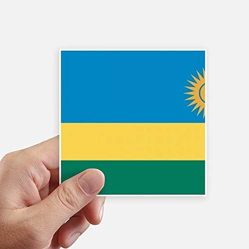 DIYthinker Drapeau National Rwanda Afrique Country Square Autocollants 10CM Mur Valise pour Ordinateur Portable Motobike Decal 8Pcs 10Cm X 10Cm Multicolor